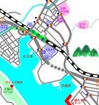 笠岡港花火大会地図